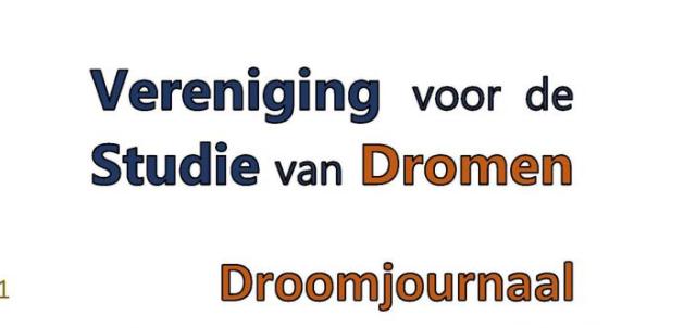 Kopij voor Droomjournaal aanleveren - najaar 2021